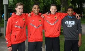 DLV-U20-Staffel mit Constantin Schmidt (links)
