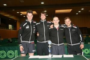 Die Hessenpokalsieger: Andrija Dragicevic, Lovre Dragicevic, Gregor Surnin und Florian Strasser (v.l.n.r.)