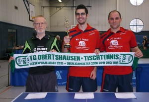 Sieger in der 3. Kreisklasse bei der Krteispokalendrunde:Michael Böttger, Pierre Eidmann und Manuel Renger (v.l.n.r.)