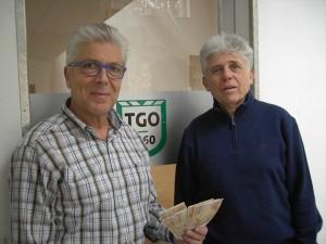 Spendenübergabe: Thomas Zeiger und Jan Reinbold