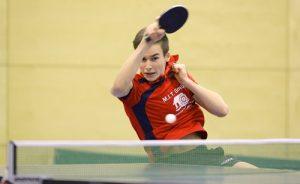 Lennart Dürr gewann die Bezirkseinzelmeisterschaft der A-Schüler in Frankfurt Bergen Enkheim