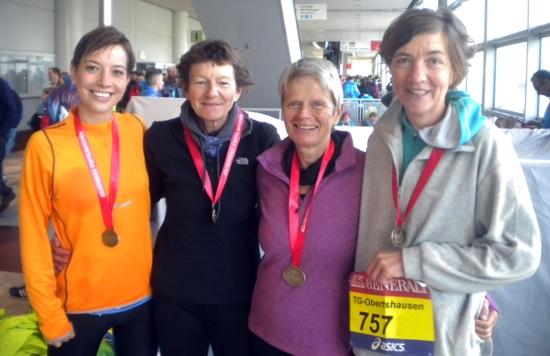 Leichtathletik-Frauen erfolgreich bei Marathonstaffel